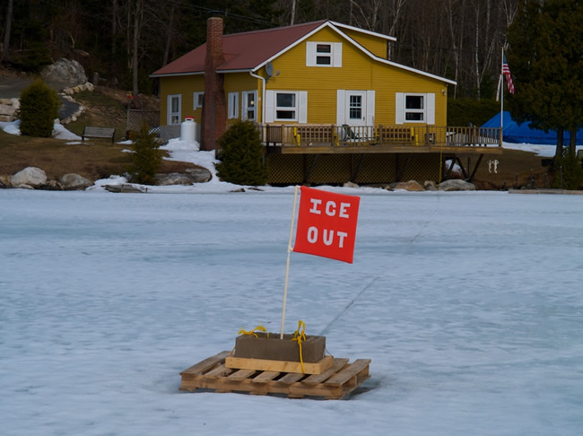 Ice out at joe's pond