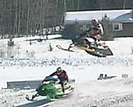 snocross racers in Island Pond, VT