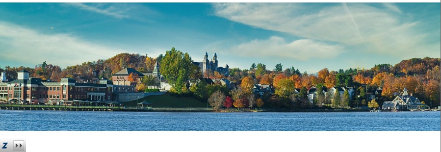 panoramic image for sale of Newport in the falll